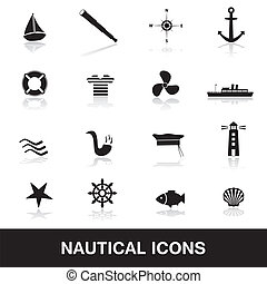 nautisch, eps10, iconen