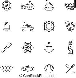 nautisch, iconen