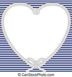 nautisch, valentijn, frame