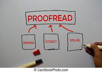 nauwkeurigheid, witte , 12542 inzicht, plank, schrijf, achtergrond., proofread, spelling, gramar