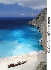 Navagio Beach, Zakynthos Greece