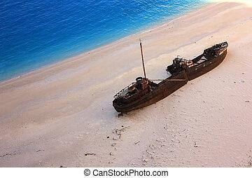 Navagio beach, Zante island - Shipwreck beach, West...