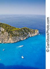 Navagio shipwreck beach, Zakynthos,