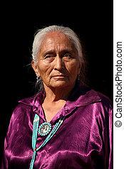 navajo, älter, tragen, handgearbeitet, traditionelle ,...