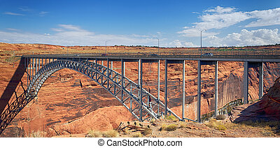 Navajo Bridge over the Colorado River near Page, Arizona USA...
