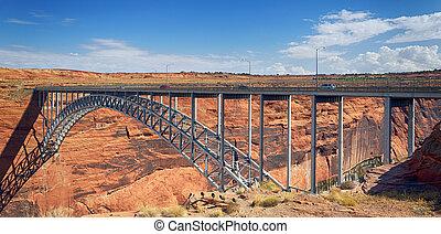 Navajo Bridge over the Colorado River near Page, Arizona USA...
