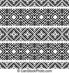 Navajo ethnic pattern design vector
