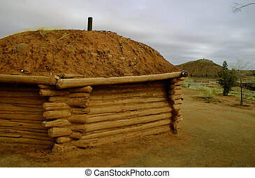 The Navajo hogan is still built in the traditional style.