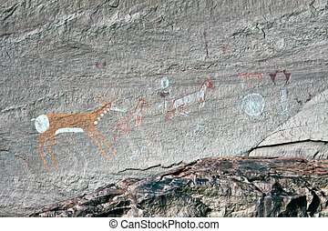 navajo, indio, pinturas