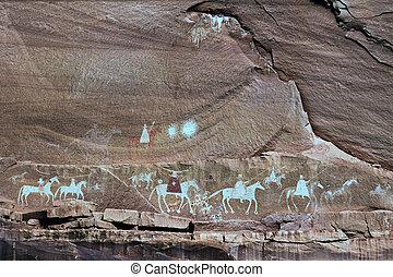 navajo, indische , gemälde