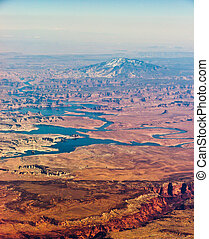 Navajo Mountain aerial view in Utah