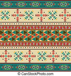 Navajo pattern - Seamless tile with navaho pattern