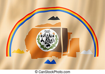 Navajo people ethnic flag, USA. 3D illustration