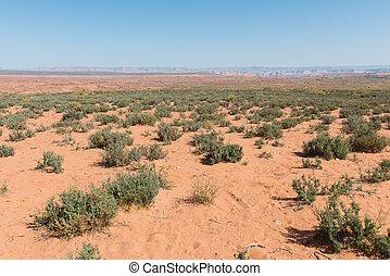Navajo sandstone desert