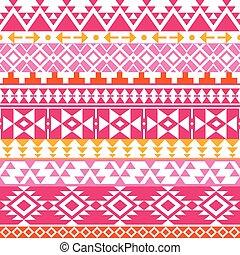 navajo, seamless, aztèque, modèle