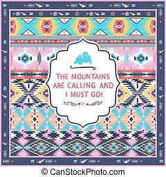 Navajo seamless tribal pattern