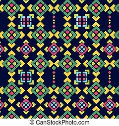 Navajo square pattern