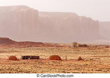 Navajo traditional hogans