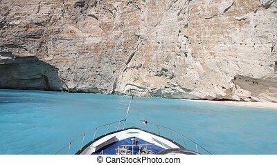 Navajo - Zakynthos - Sailing Near Navajo, Zakynthos Island,...