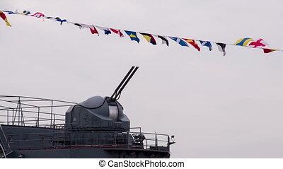Naval Artillery Unit - Ship's rate of gun against a...
