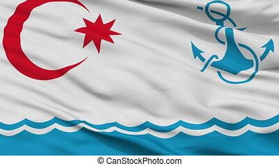 Naval Azerbaijan Flag Closeup Seamless Loop