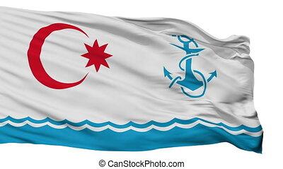 Naval Azerbaijan Flag Isolated Seamless Loop
