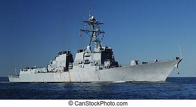 Naval Destroyer - US Navy DDG 51 AEGIS class Destroyer at...