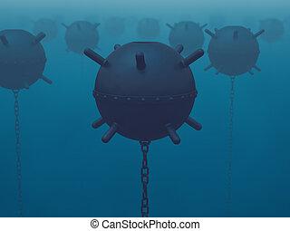 naval, mines