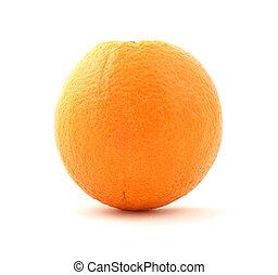 Naval orange - The common naval orange against a white...