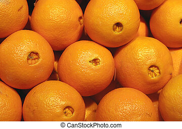 Naval Oranges - Fresh naval oranges in a fruit market