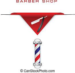 navalha, estilo, antigas, cabeleireiras
