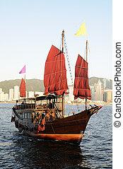 nave, cinese, navigazione