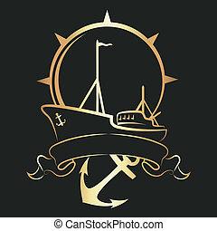 nave, emblema, ancorare
