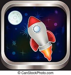 nave espacial, icono