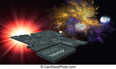 nave espacial, interestelar