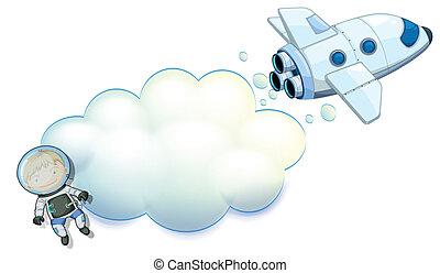 nave espacial, robô, espaço vazio