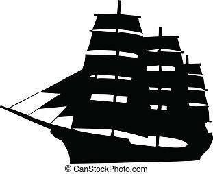 nave, illustrazione