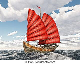 nave rifiuto, cinese