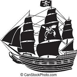 nave, roger, pirata, giocondo