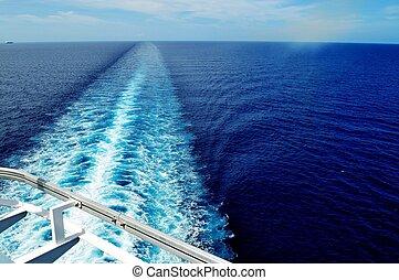 nave, scia, crociera