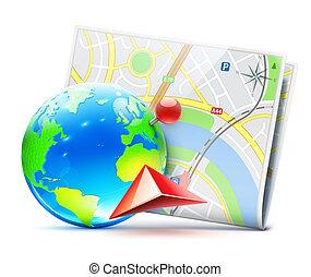 navegação, global, conceito