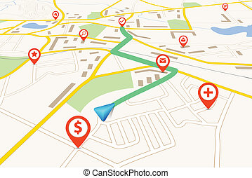 navegação, mapa