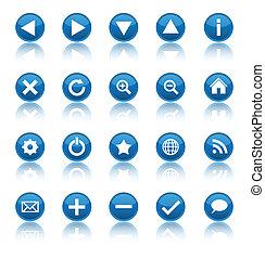 navegación de web, iconos, aislado, blanco, plano de fondo
