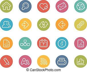 navegación de web, iconos