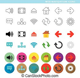 navegación de web, icons.