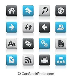 navegación de web, /, mate, botones