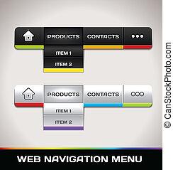 navegación de web, menú