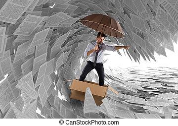 navegue, tempestade, burocracia