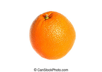 Navel Orange - A fresh Navel orange isolated on a white...