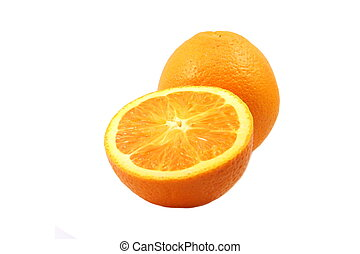 Navel orange - Fresh Navea orange on white background